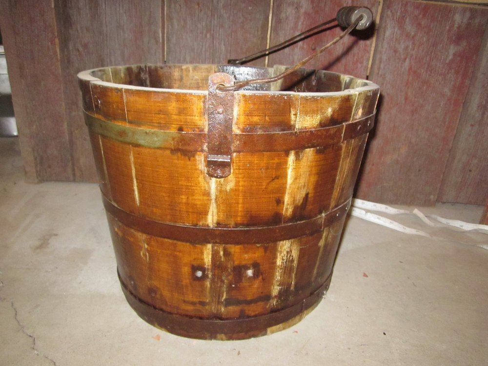 Wooden milking pail