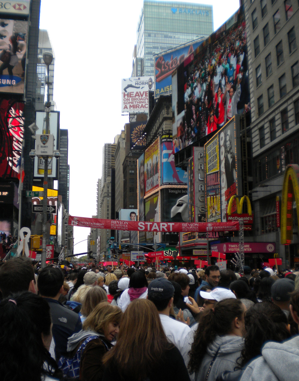 The EIF Revlon Run/Walk for Women's Cancers start line in Times Square