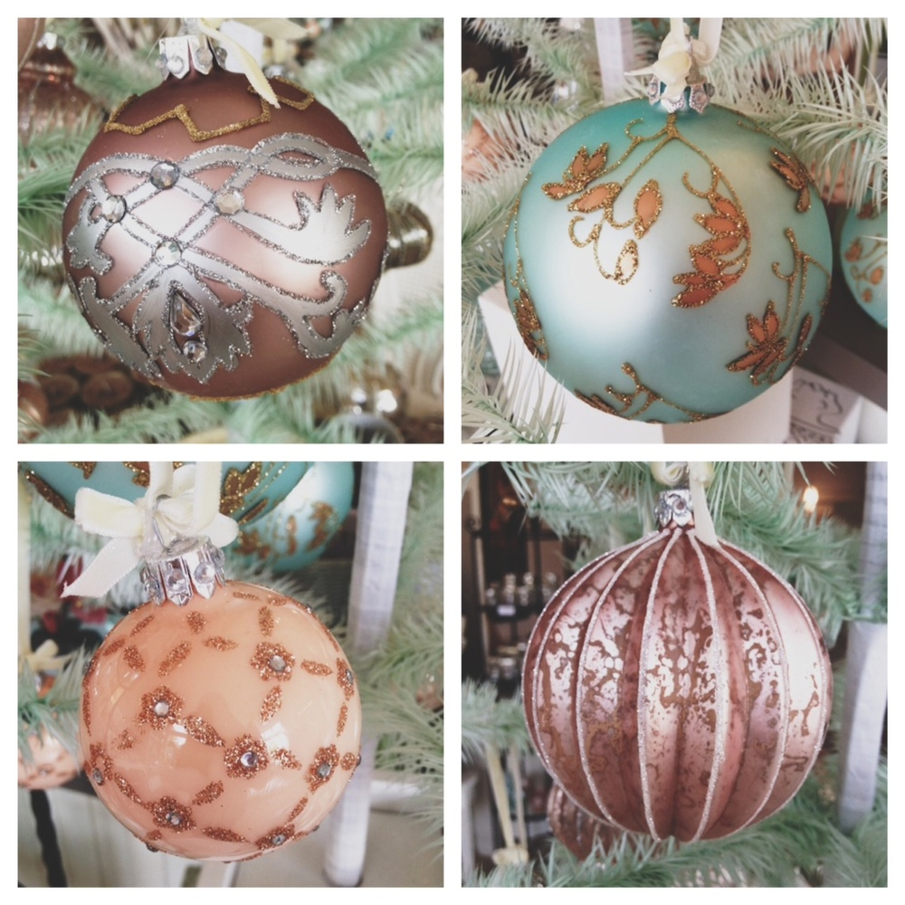 Glitter, Glamorous, and Gold, Oh my! These vintage ornaments are perfect for stocking stuffers or gifts for co-workers.