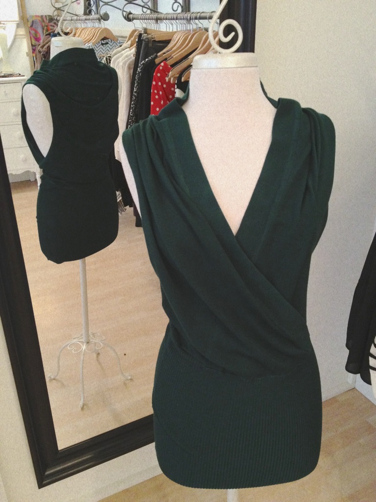 Hunter Green Wrap Dress