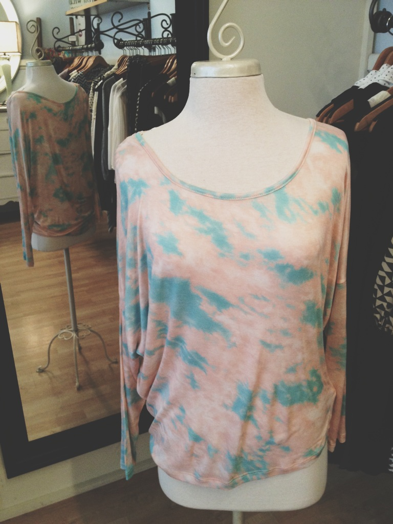 Pink and Blue Tie-Dye Comfy Top.