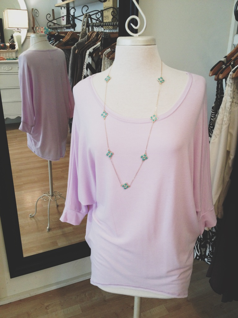 Comfy and cute lavender top