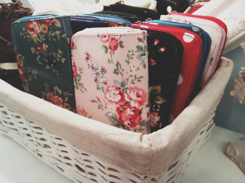 Floral and Polka Dot Patterned Wallets. Perfect gift item!