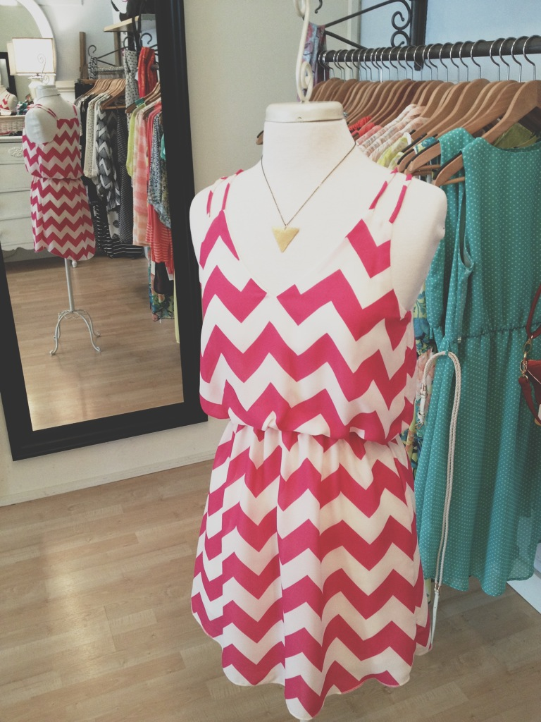 Fuchsia Chevron Dress