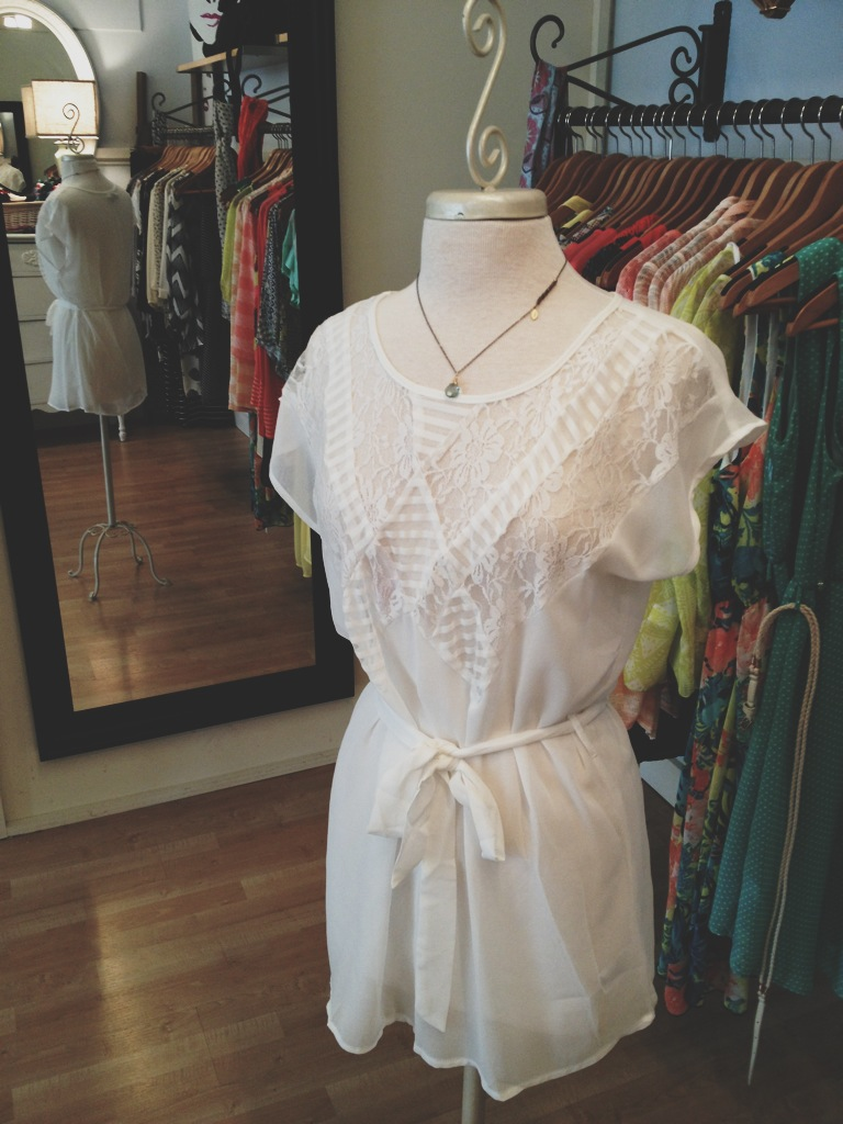 Lacey Blouse with Tie