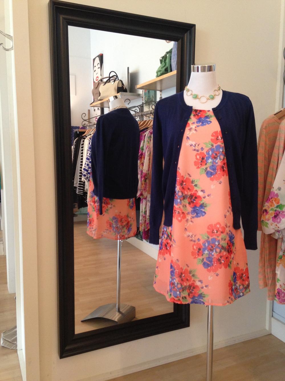 Spring floral tank dress