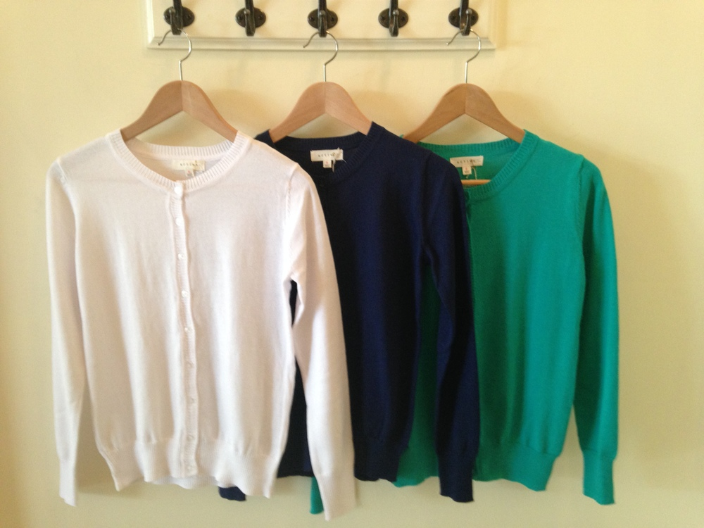 Active cardigans in an array of colors