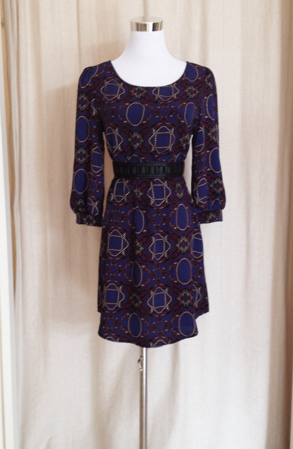 Purple Print Shift Dress