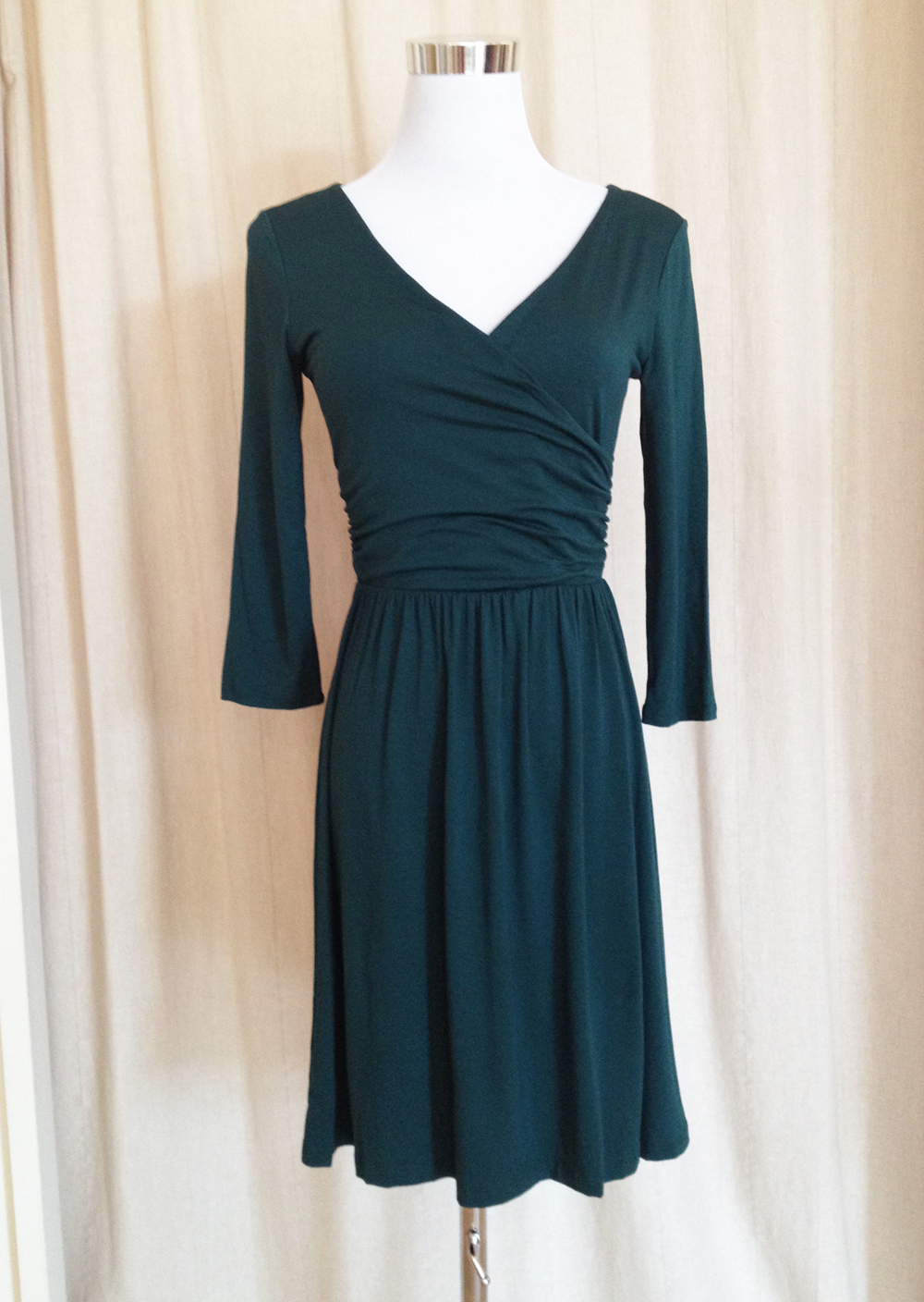 Teal Green Jersey Wrap Dress
