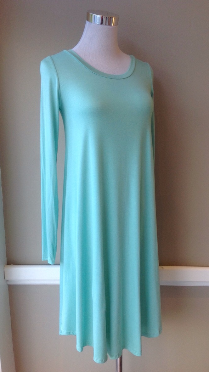 Light Mint jersey knit tunic dress, $32