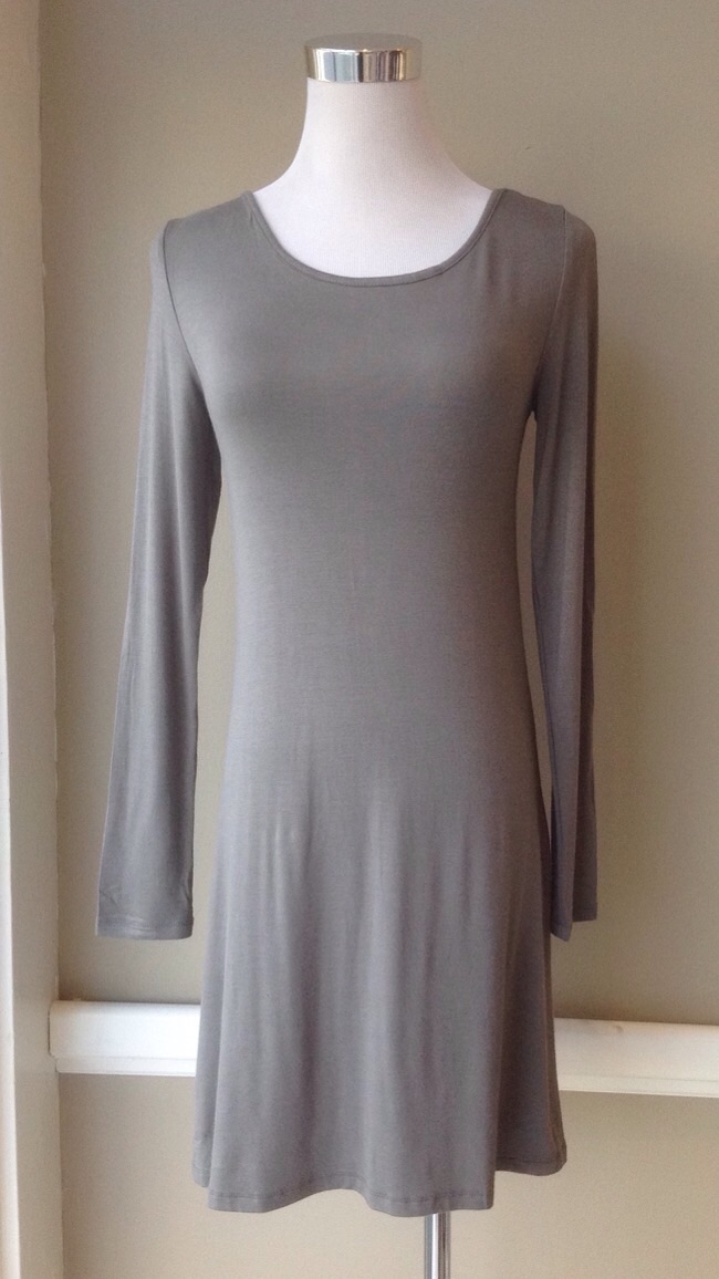 Soft Grey tunic dress, $26