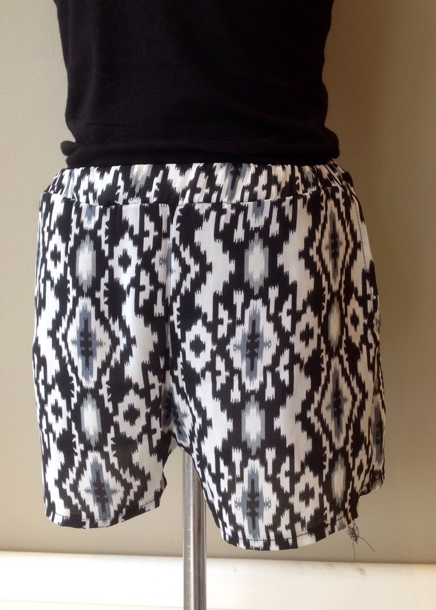 Lightweight Ikat print shorts with side pockets, $26