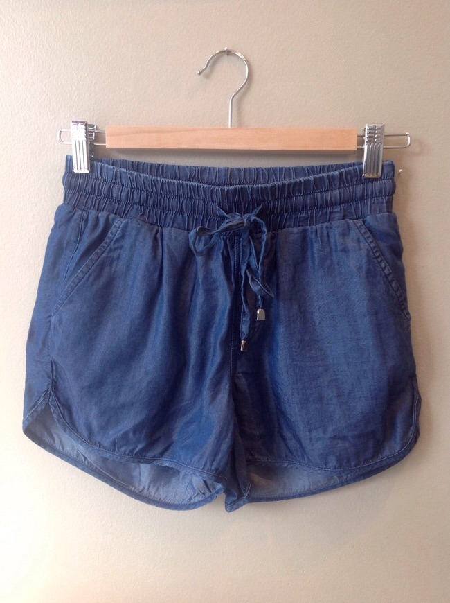 Tencel chambray shorts, $28
