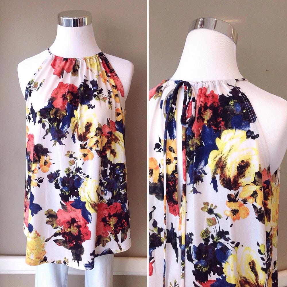 Knit floral print tank, $32