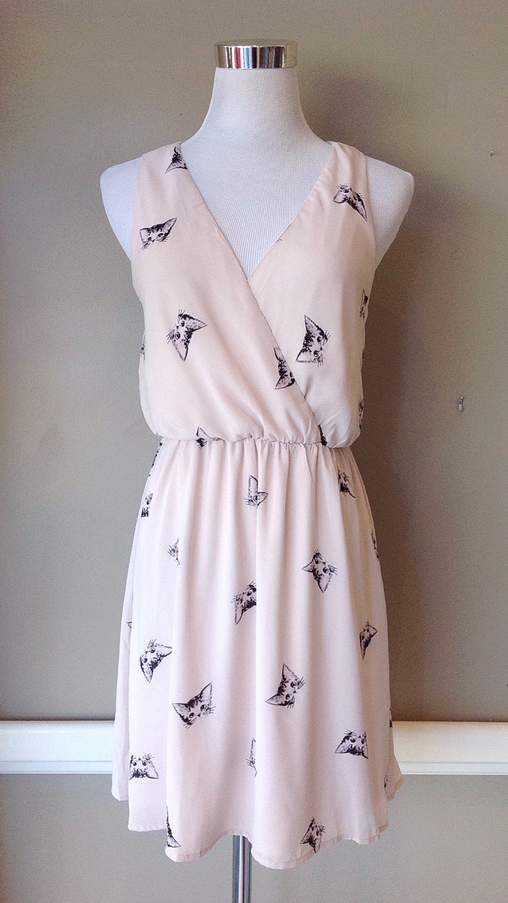 Cat print dress, $45