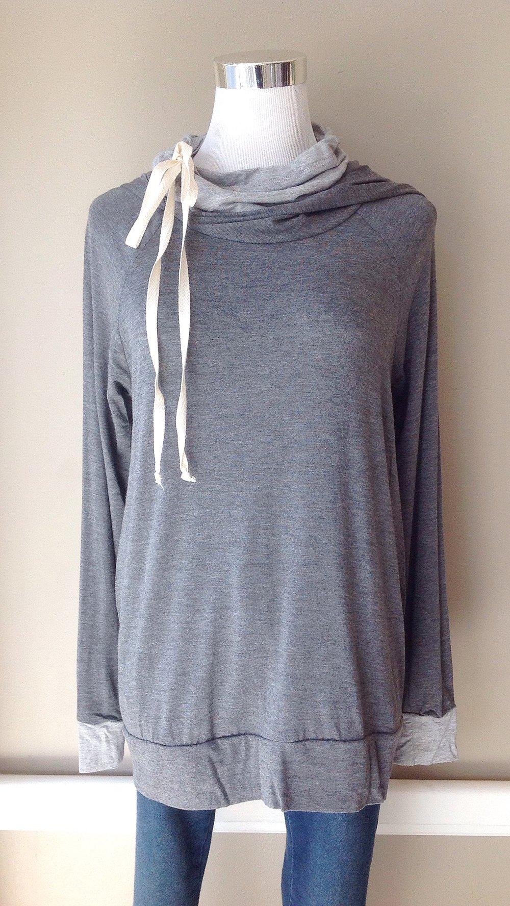 Bestselling cowl neck hoodie, $35