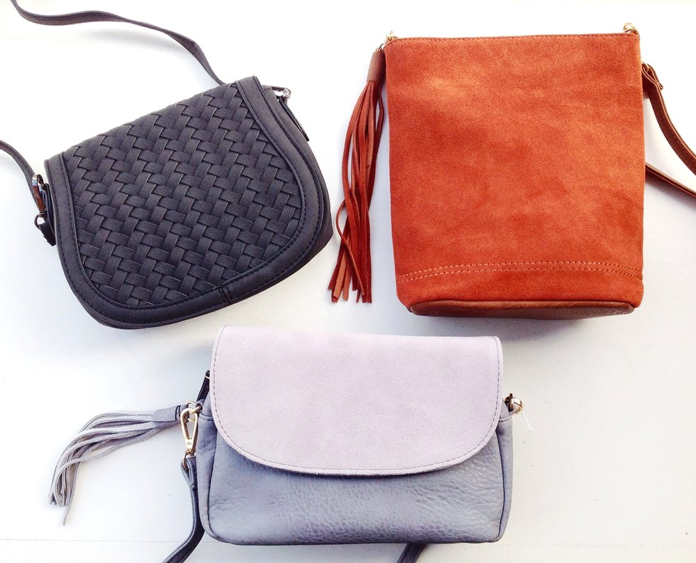Assorted handbags, $48