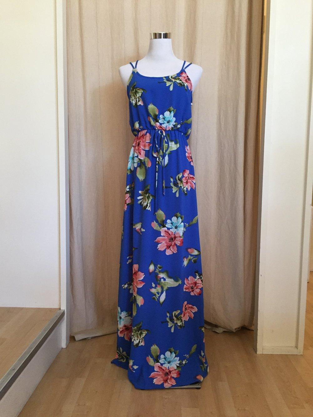 Strappy Floral Maxi, $48