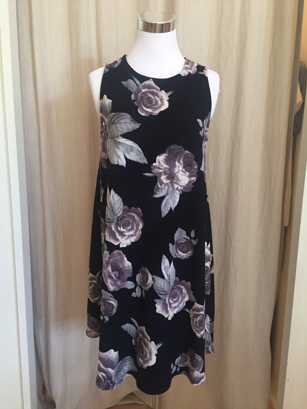 Midnight Floral A-Line Dress, $38