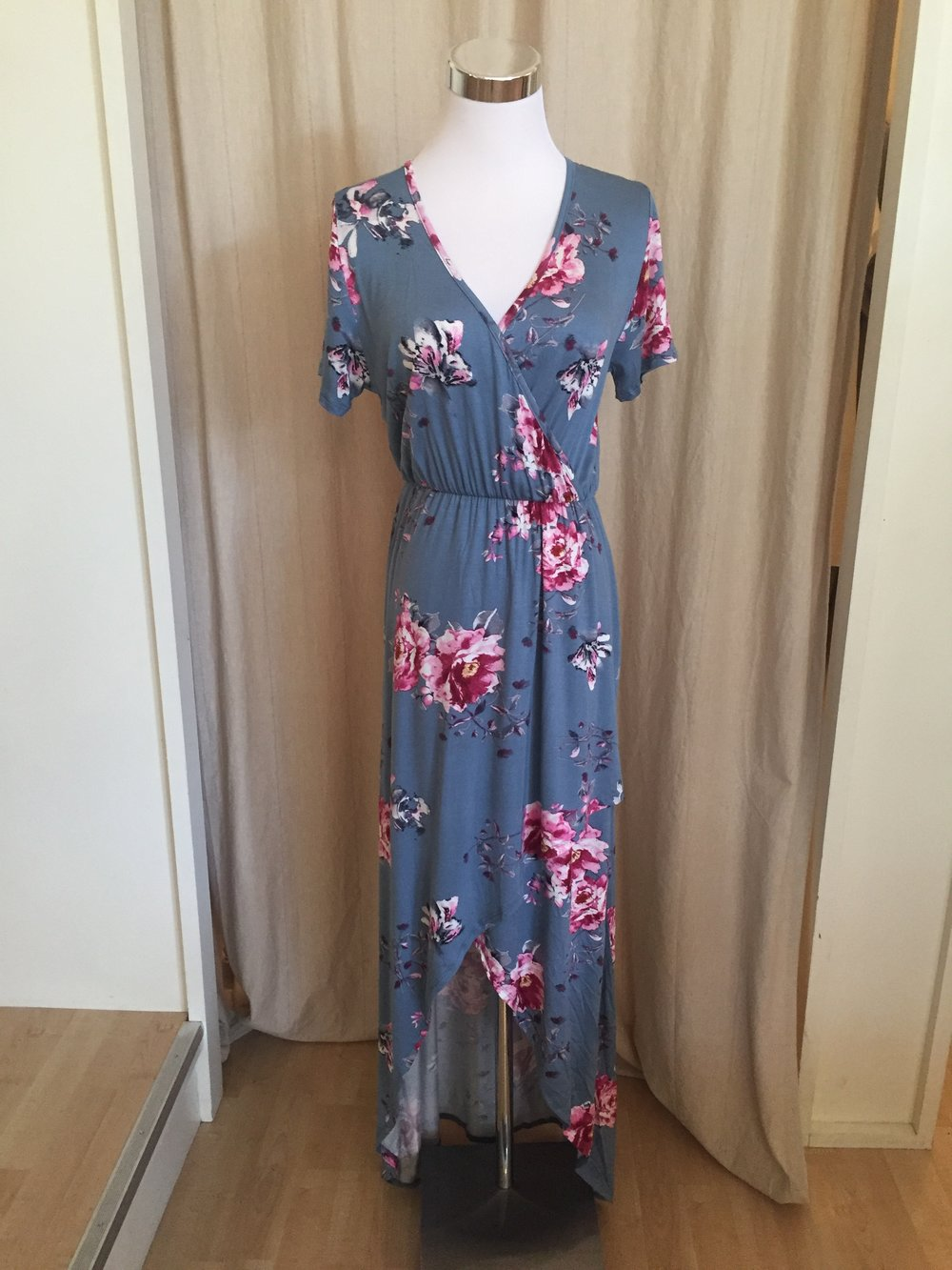 Hi-Low Dusty Blue Maxi, $45