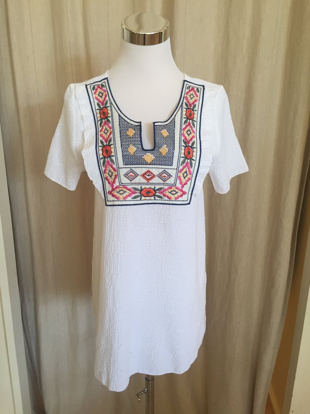 Embroidered Yoke Top, $38