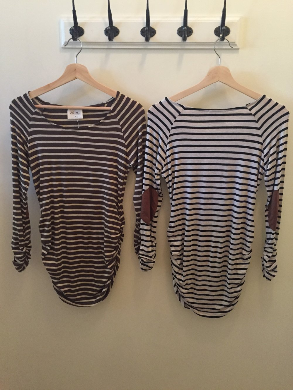 Ruched Stripe Top, $35
