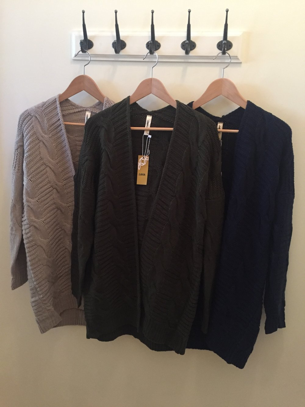 Chunky Cable Knit Sweaters, $45