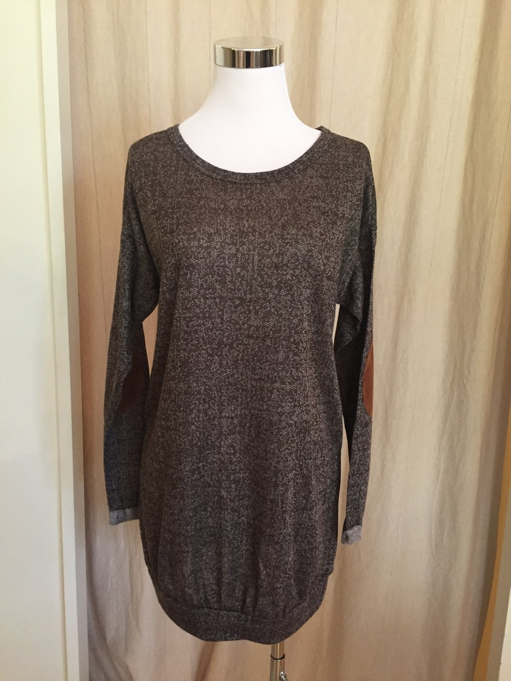 Brown Heathered Sweater Tunic, $38