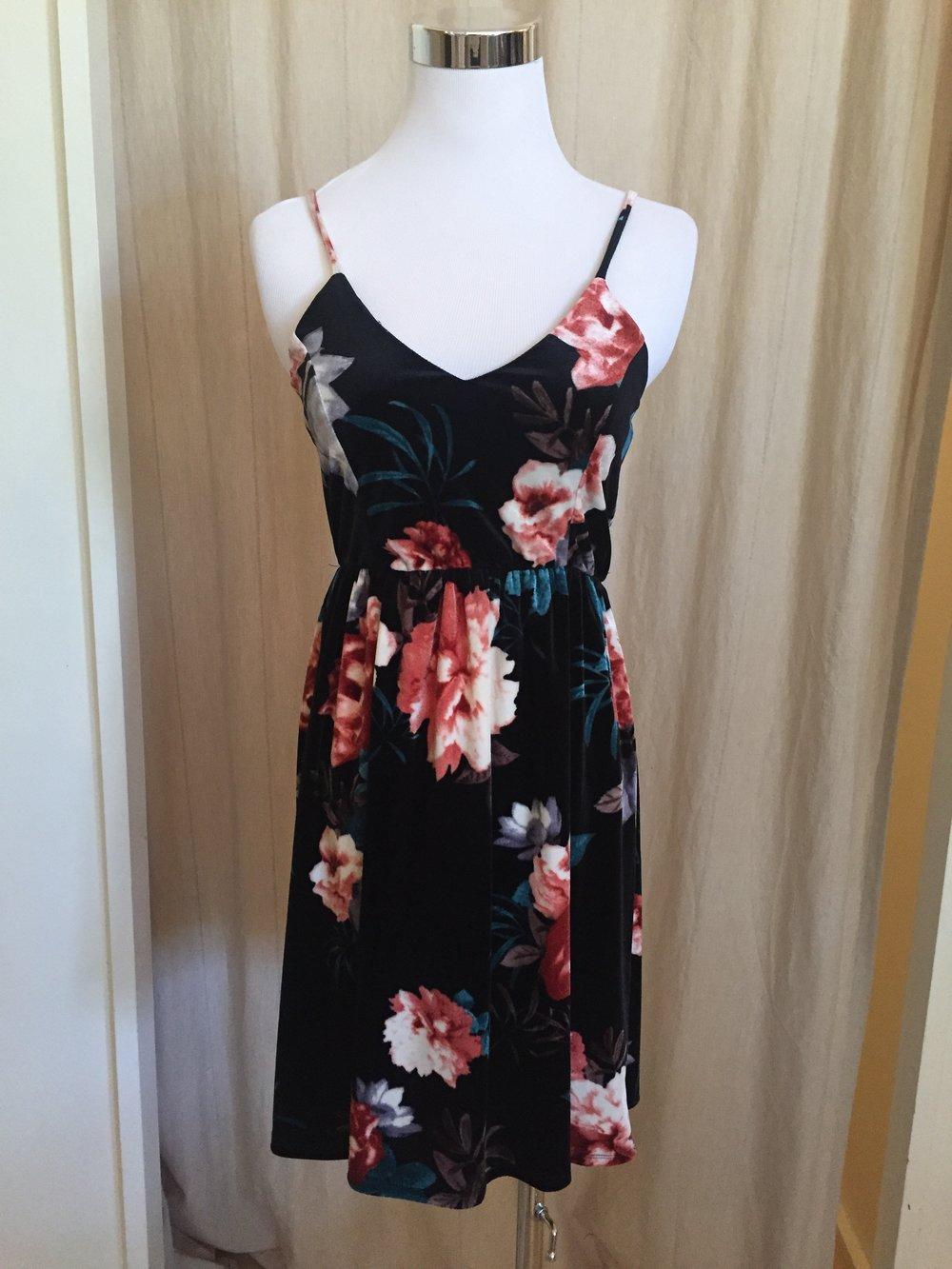 Sweetheart Velvet Dress (also in lilac), $38
