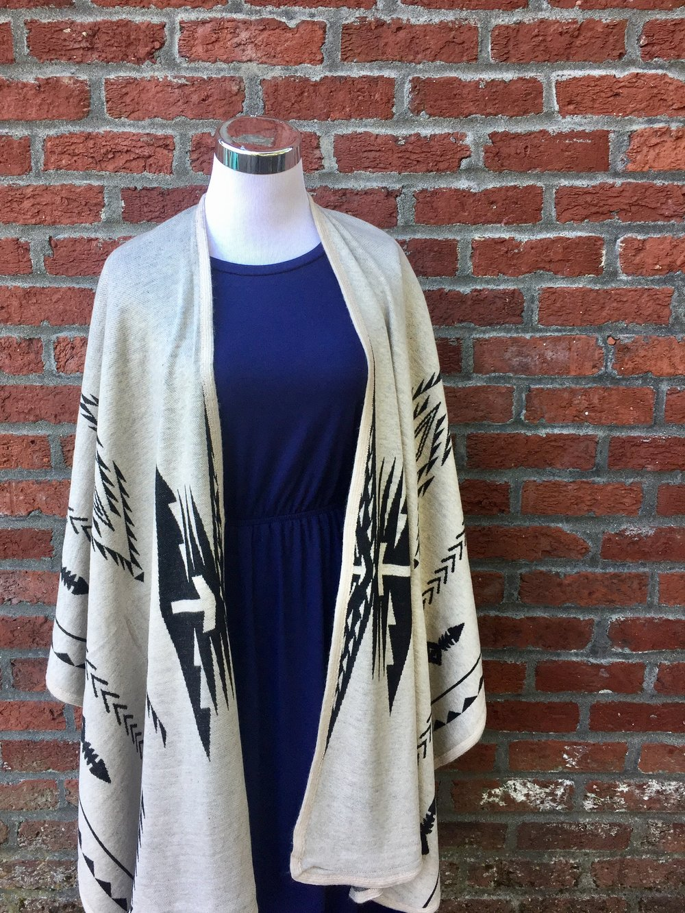 Reb + J Navy Dress ($35) with Shawl ($32)