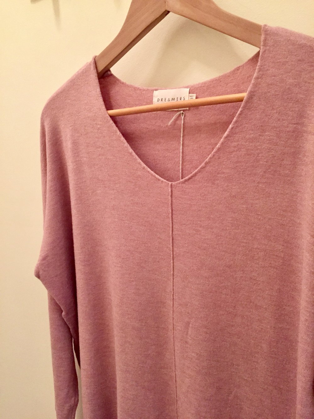 Dreamers Sweater (Back in Blush, $42)