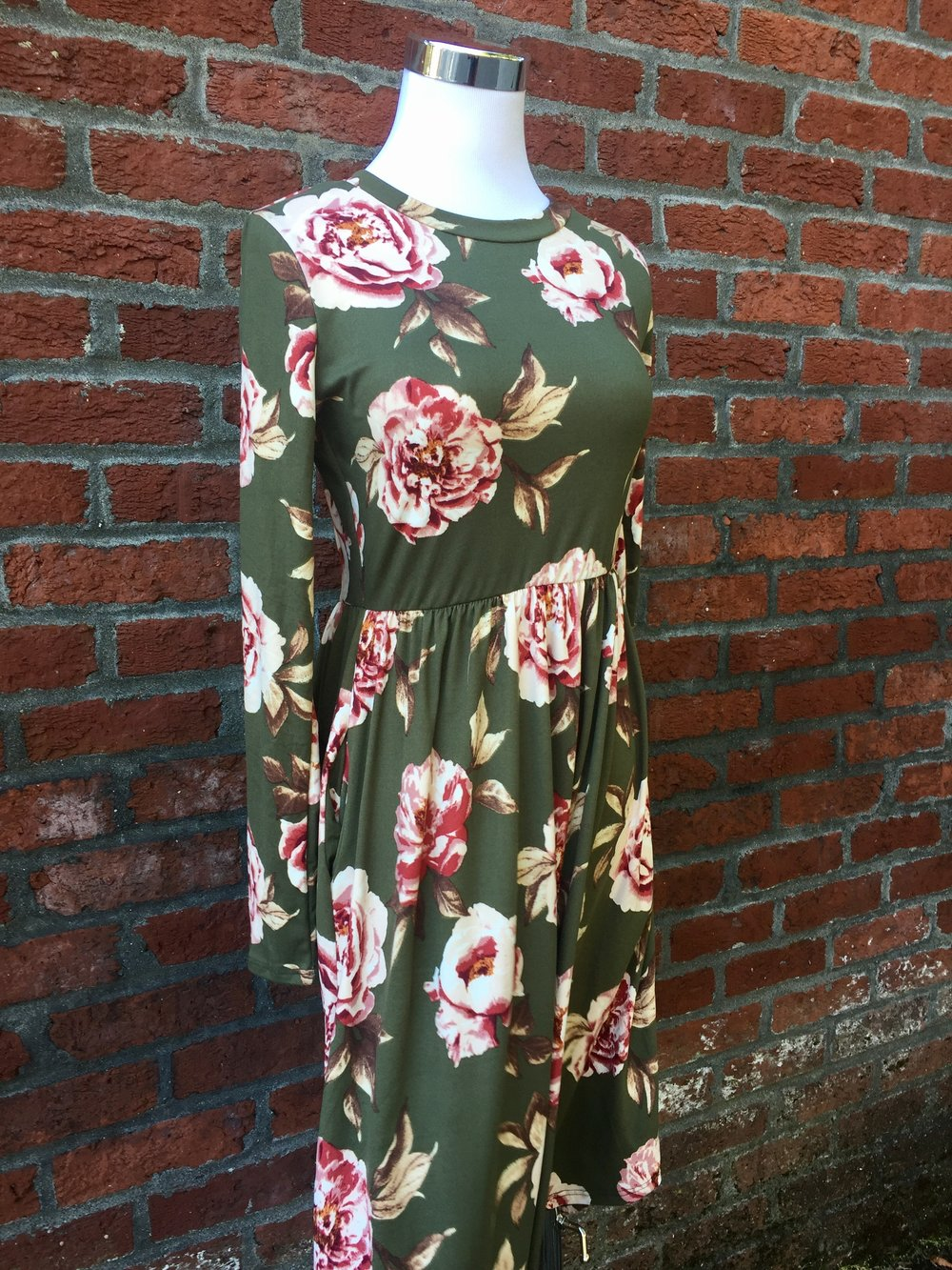 Reb & J Green Floral Dress (Also in Black, $38)