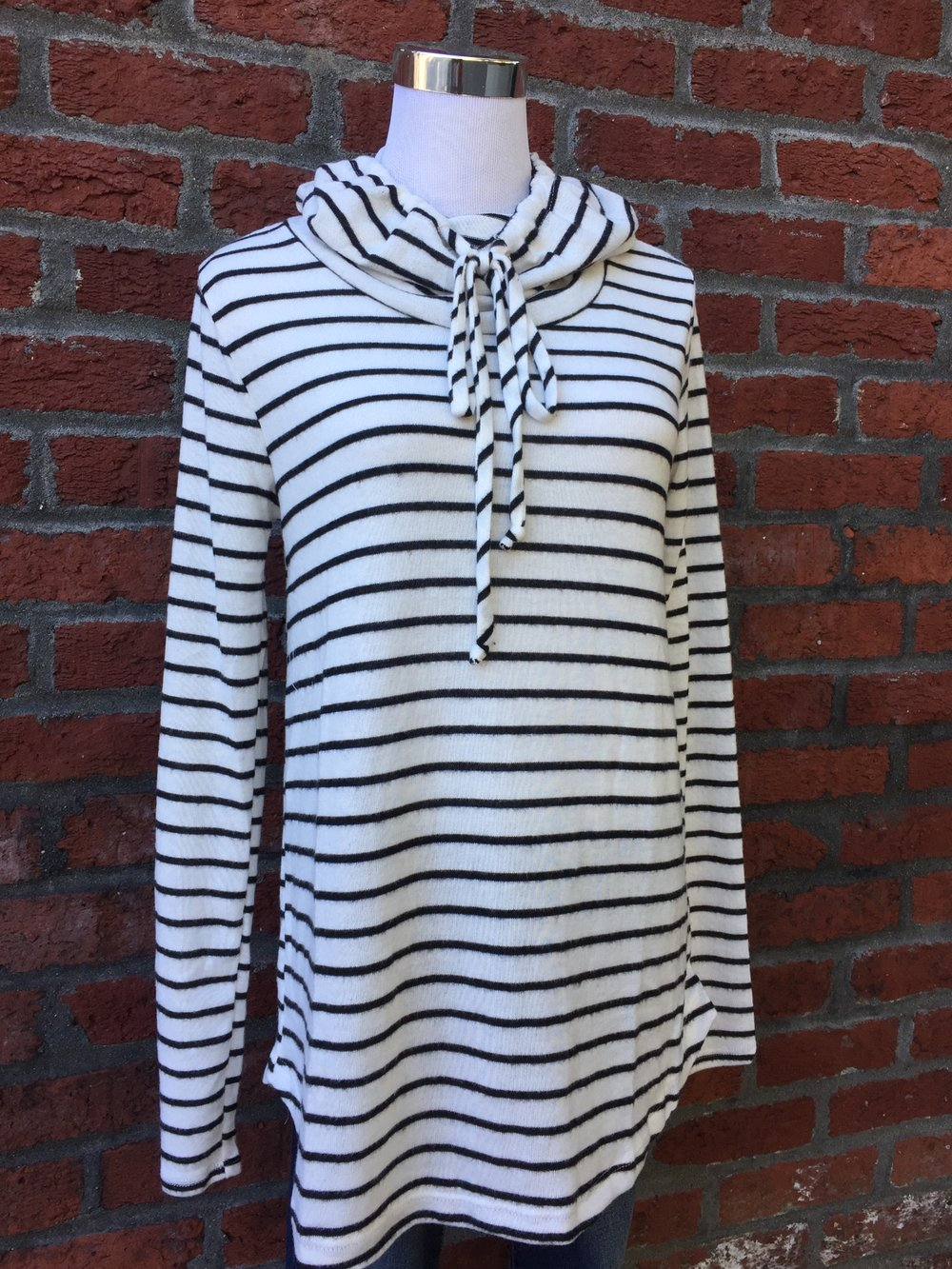Staccato Striped Drawstring Sweater ($35)