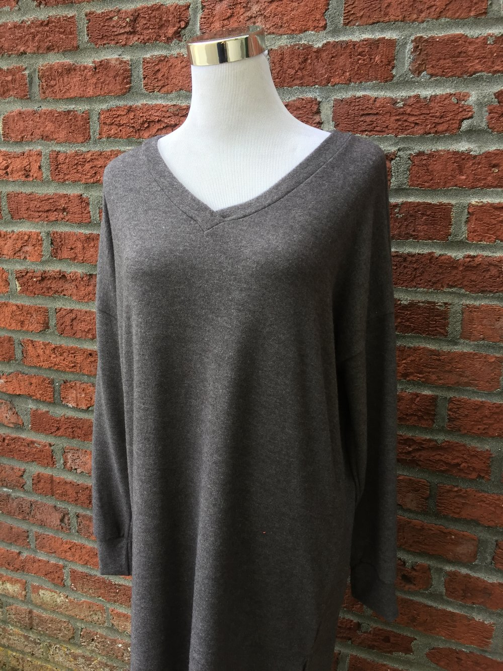 Reb+J tunic sweater ($32, grey and charcoal)