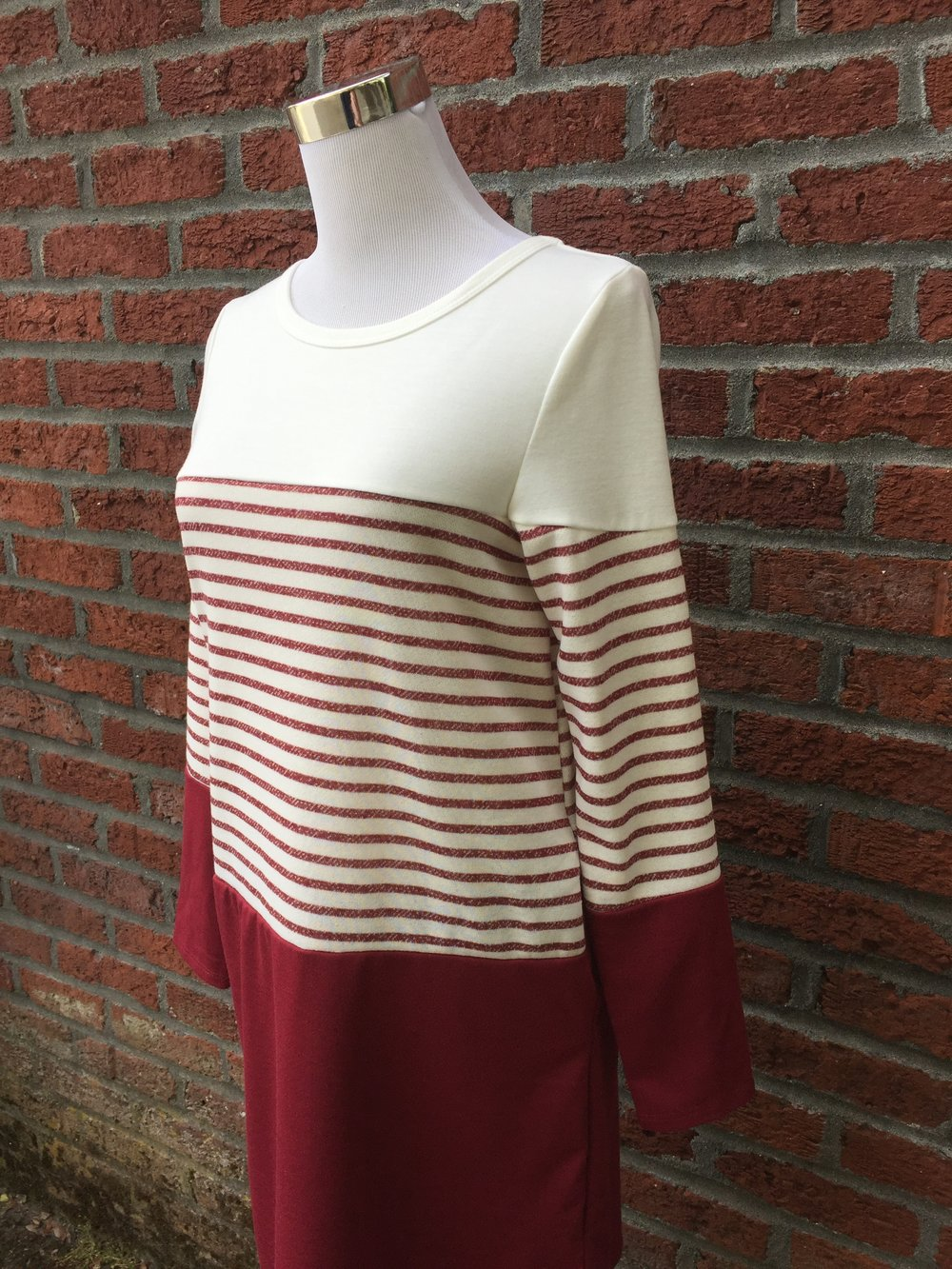 Hailey & Co striped tunic ($42, black and red)
