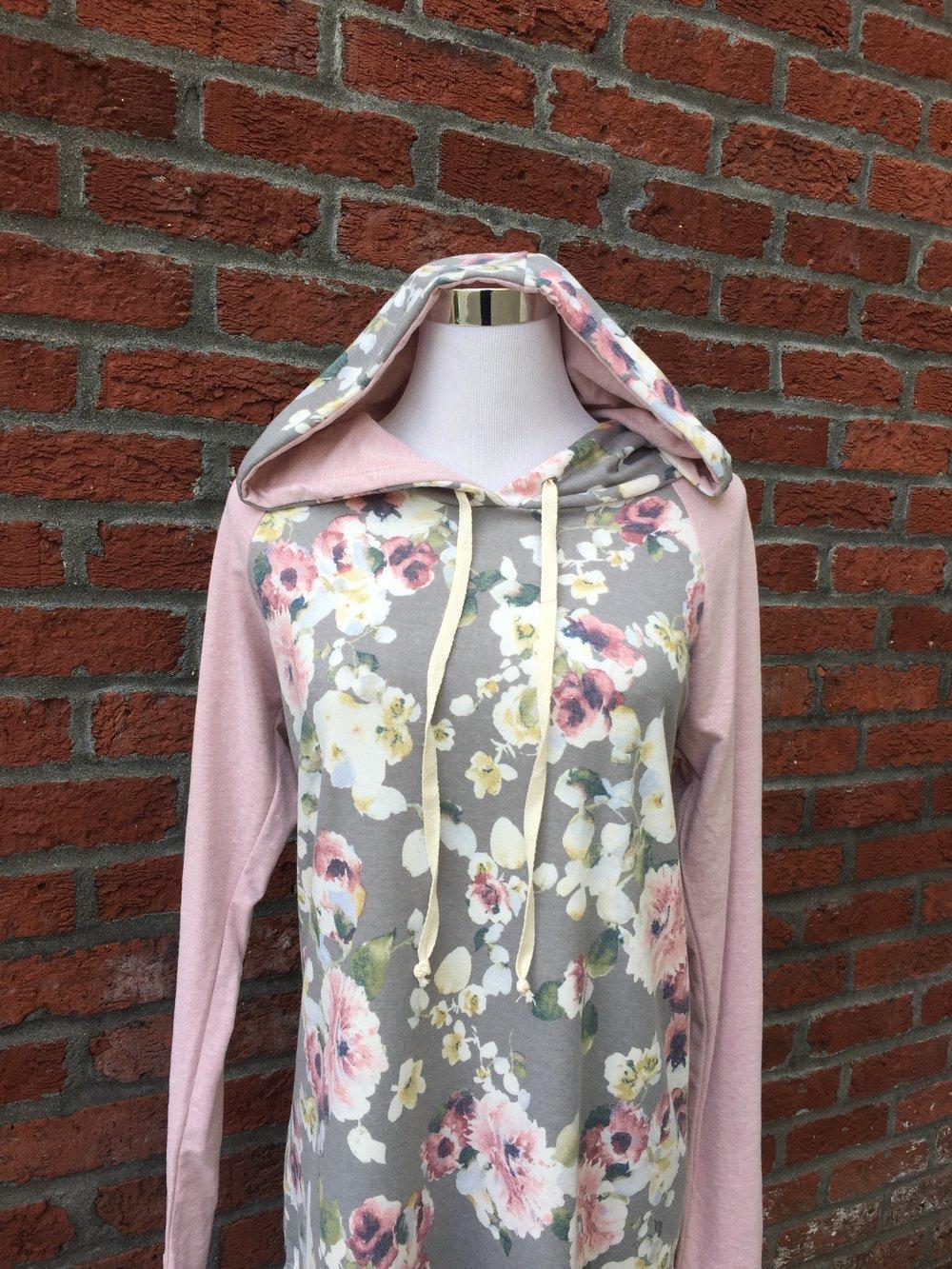 Chris & Carol floral hoodie ($35)