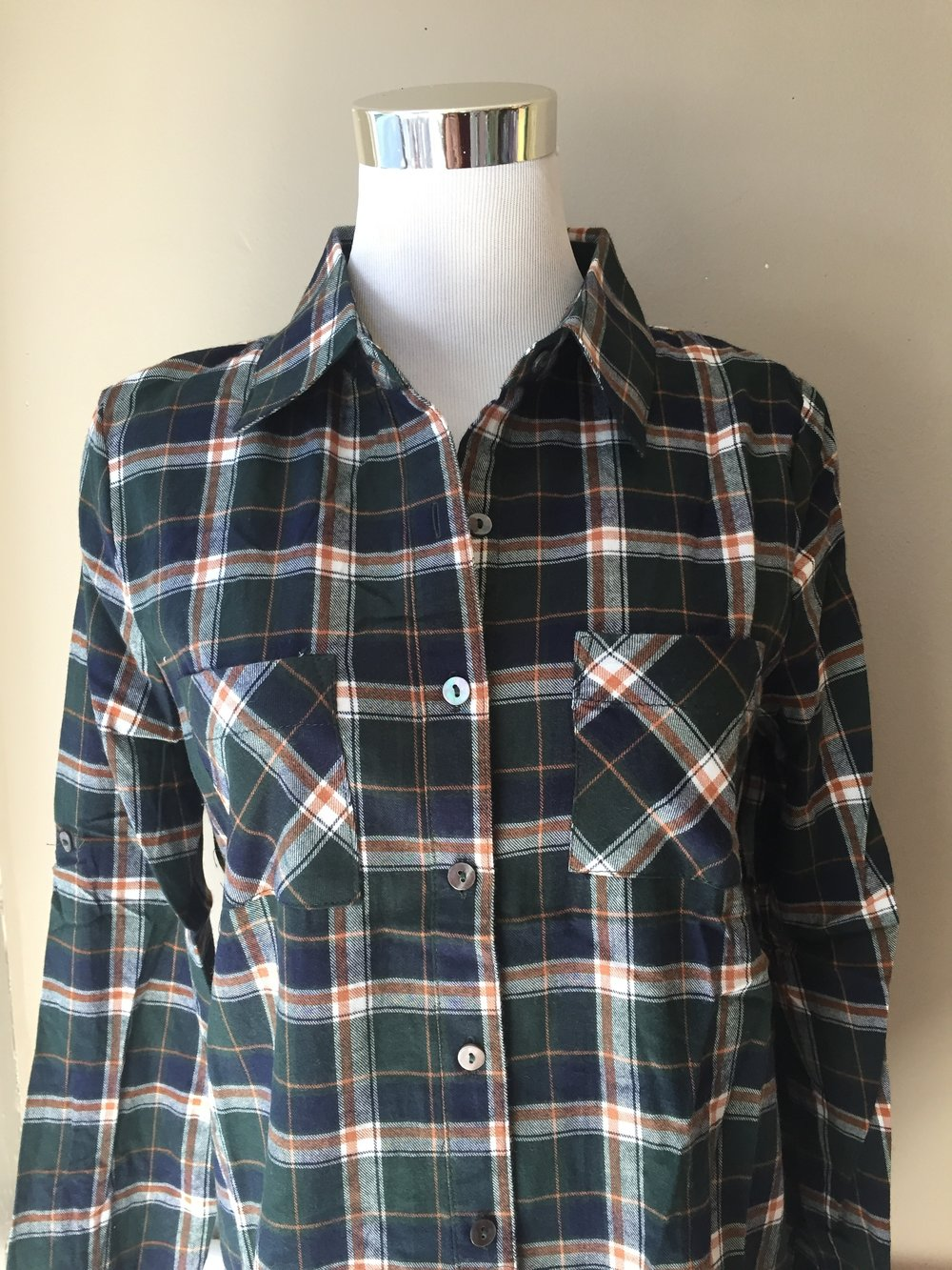 Hunter green plaid ($38)