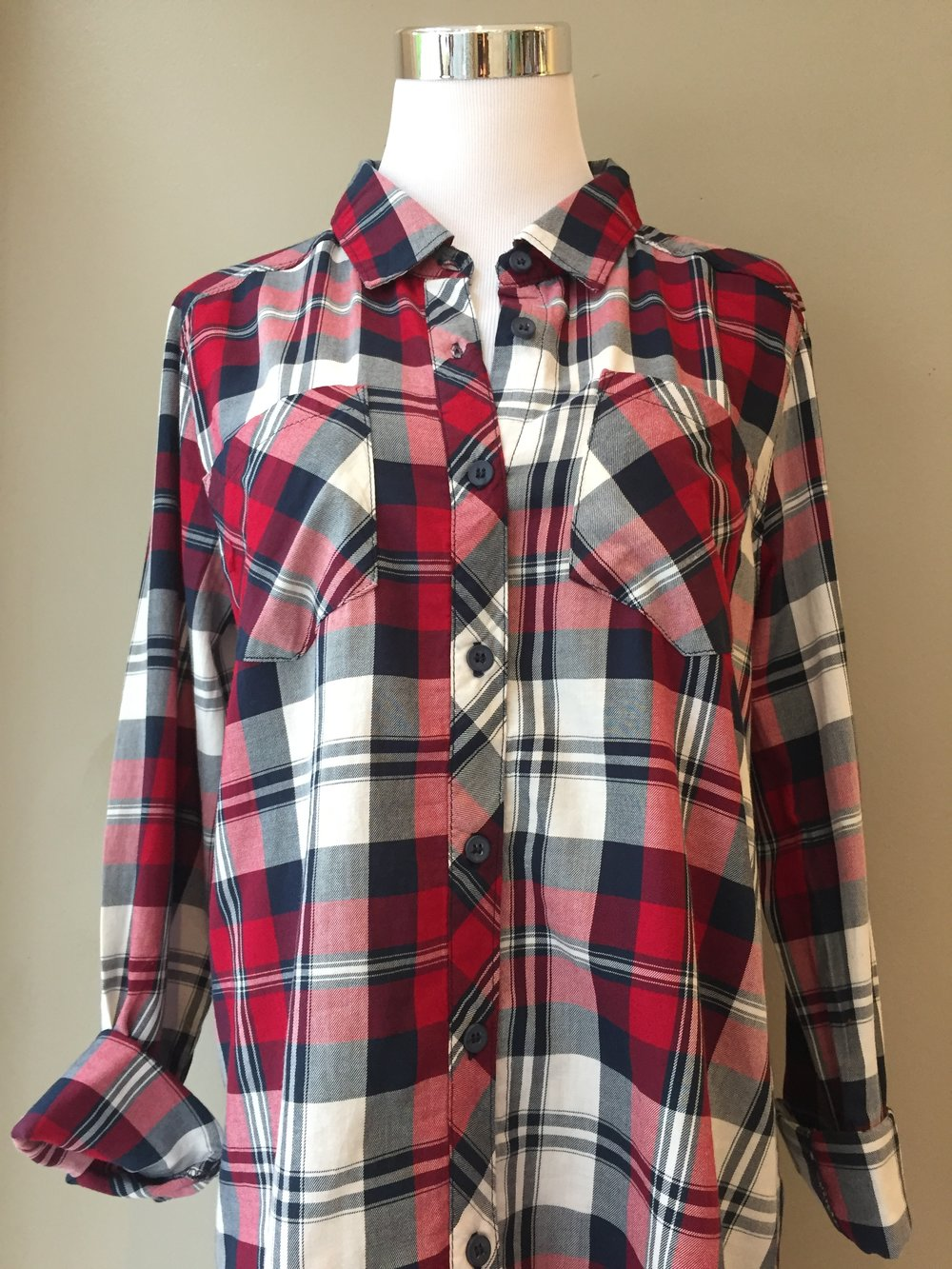 Lightweight plaid button up ($32)