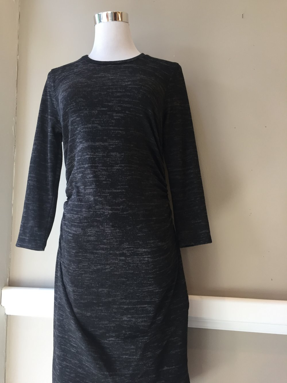 Dress with tulip detail ($35, also in heather grey)