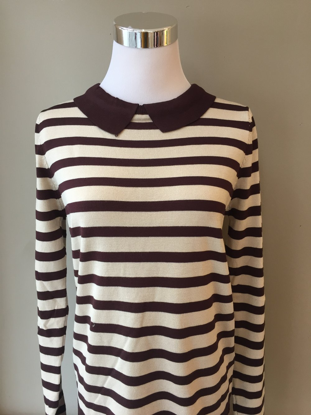 Collared striped sweater ($32)