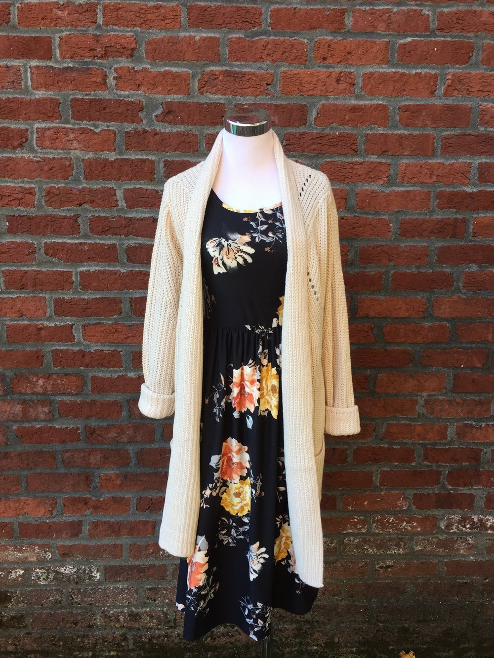 Cozy Long Cardigan ($38 Cream, Grey and Olive)