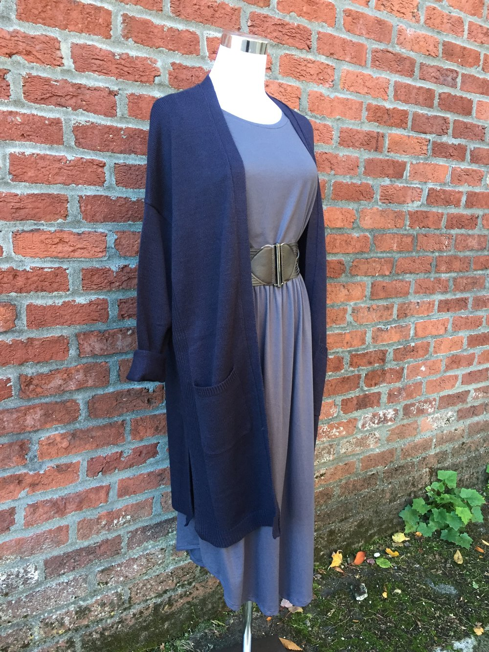 Long Navy Cardigan ($42)