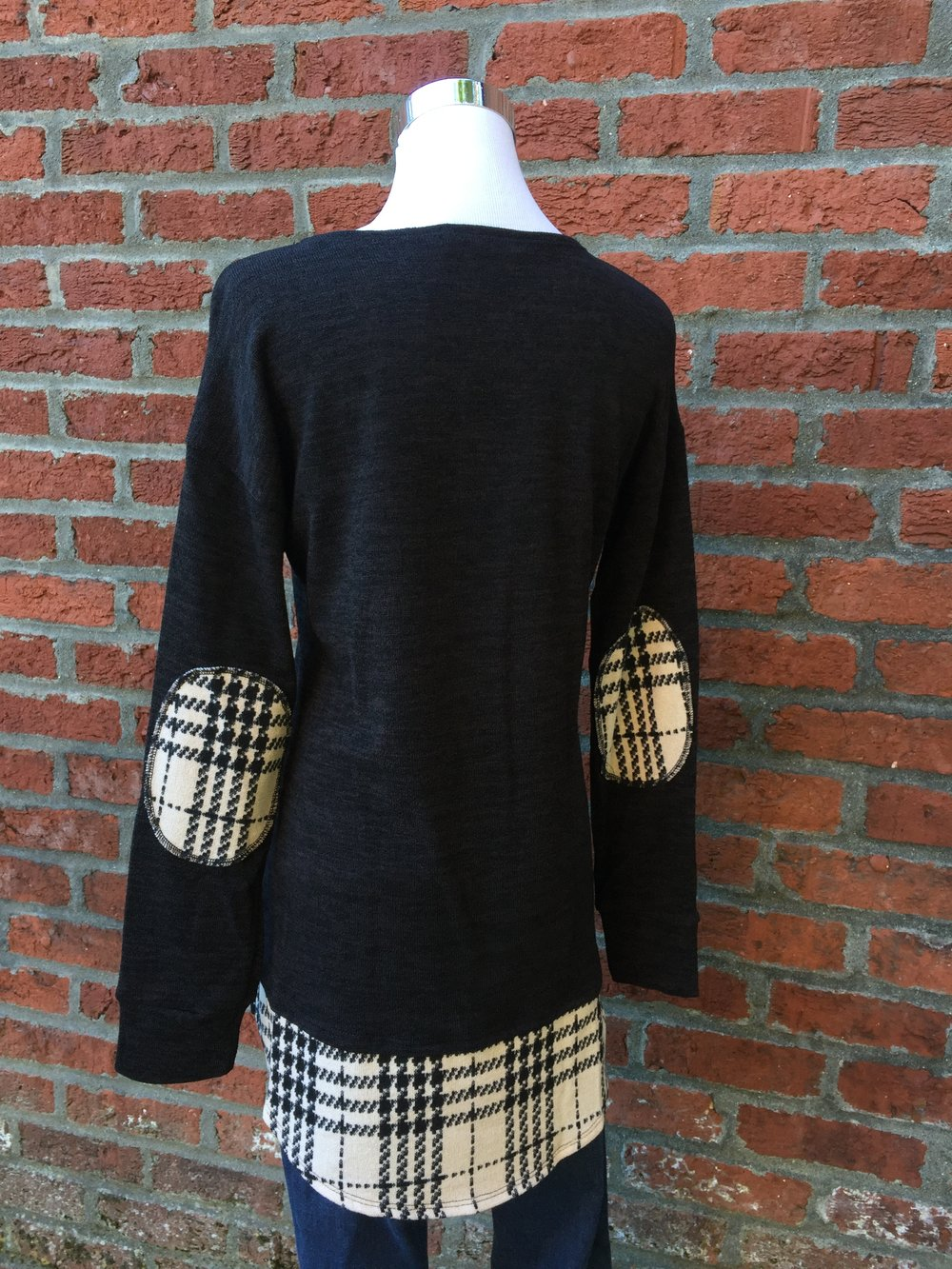 Black Sweater w/ Back Detail ($34)