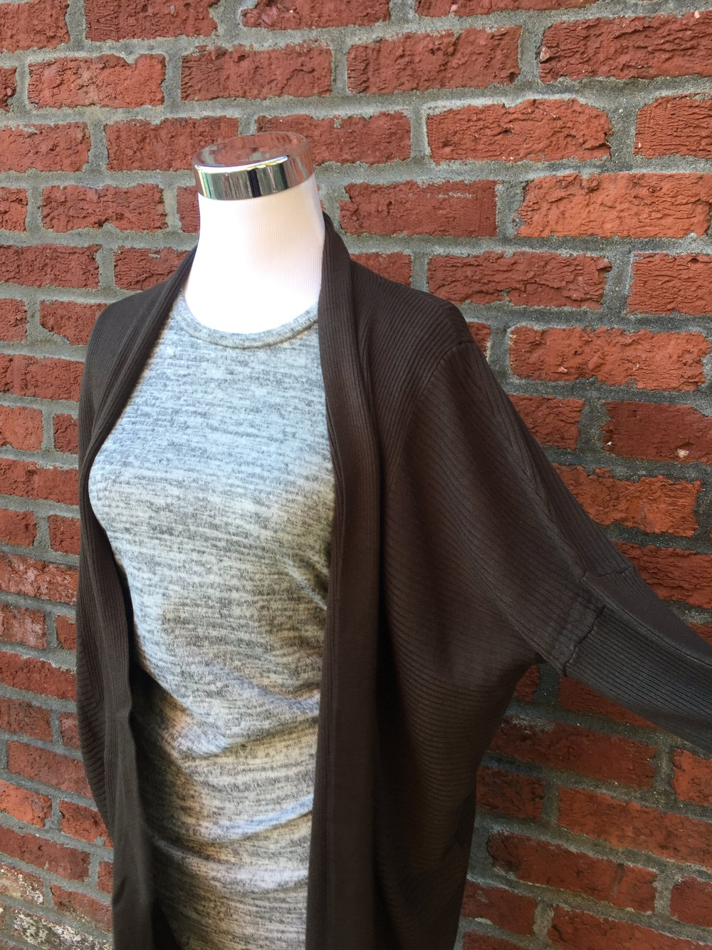 Dolman Cardigan ($35 Dark Olive, Navy and Black)
