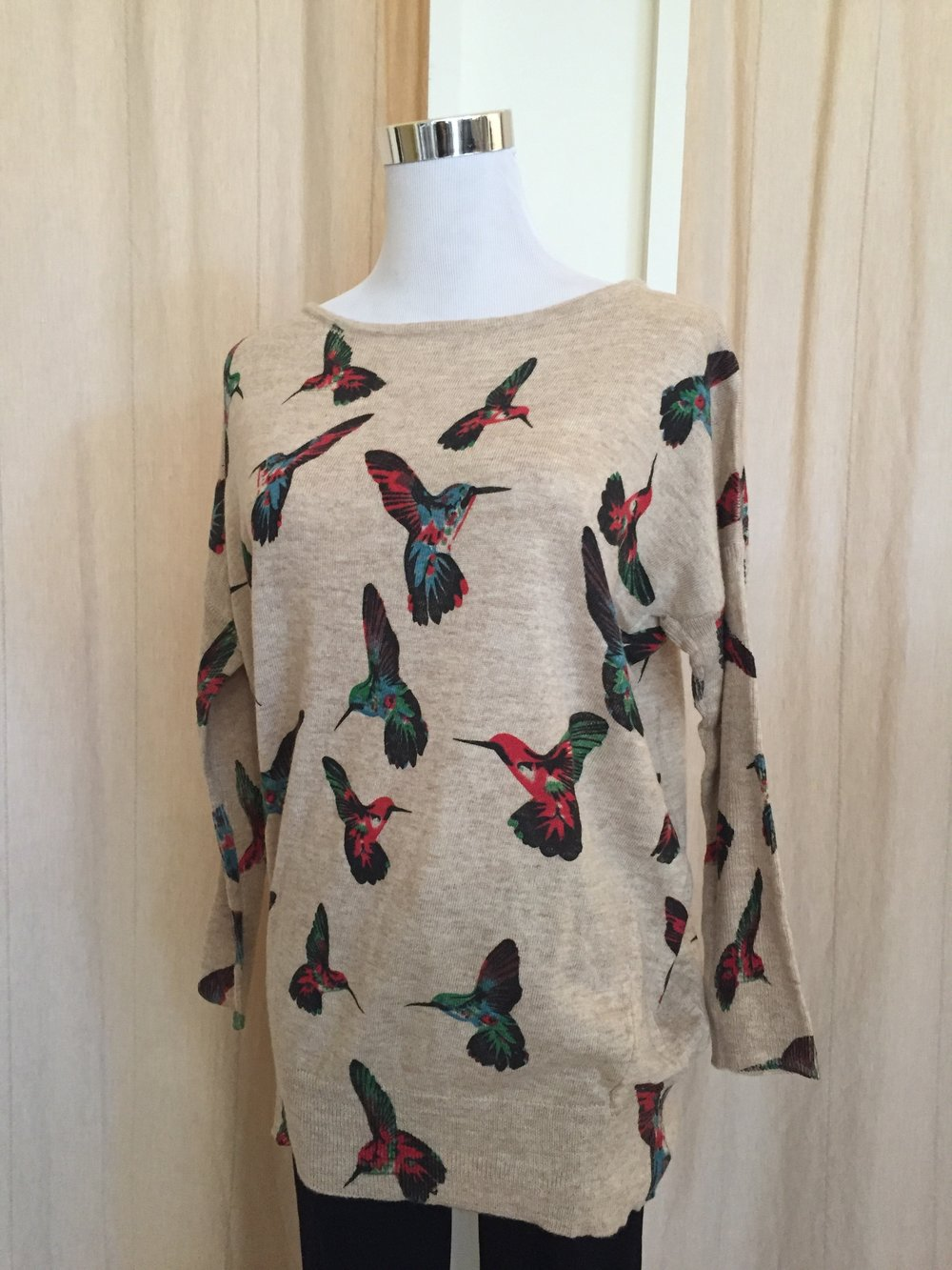 LA Soul Printed Sweater ($42 butterfly and hummingbird)