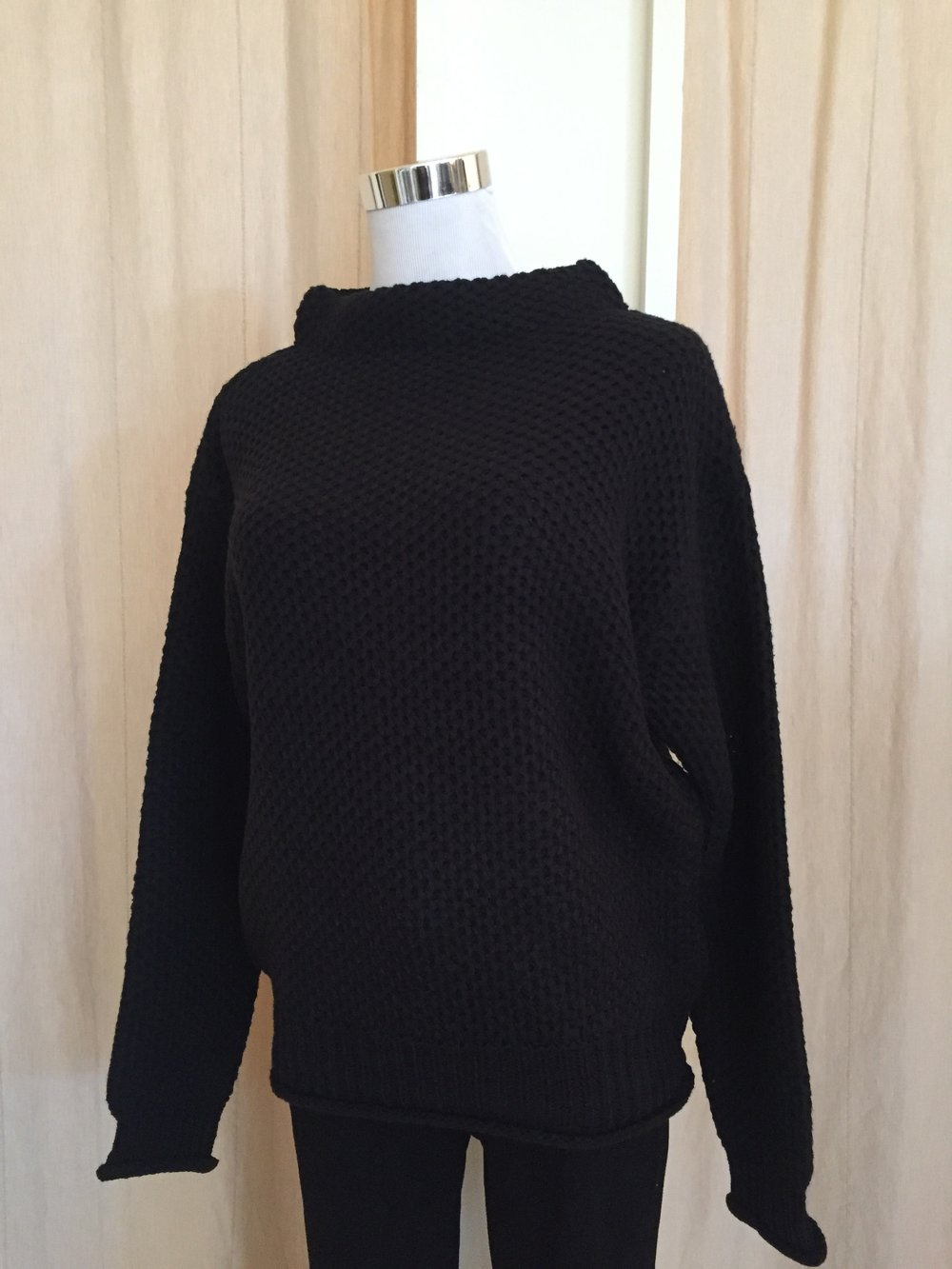 Black Boxy Sweater ($42)