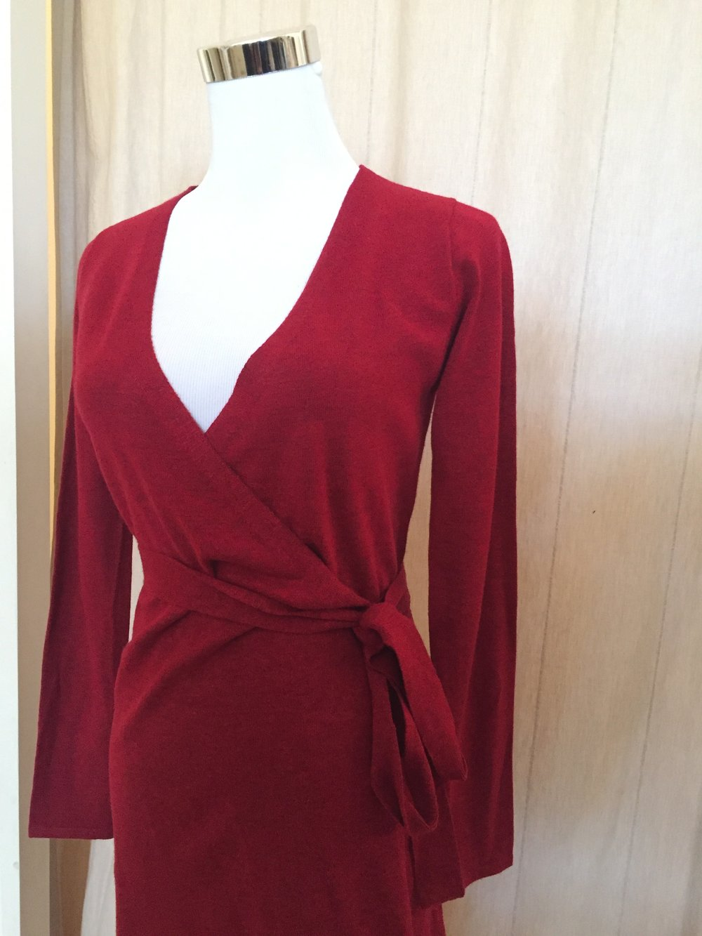 Wrap Dress ($48 Red and Black)