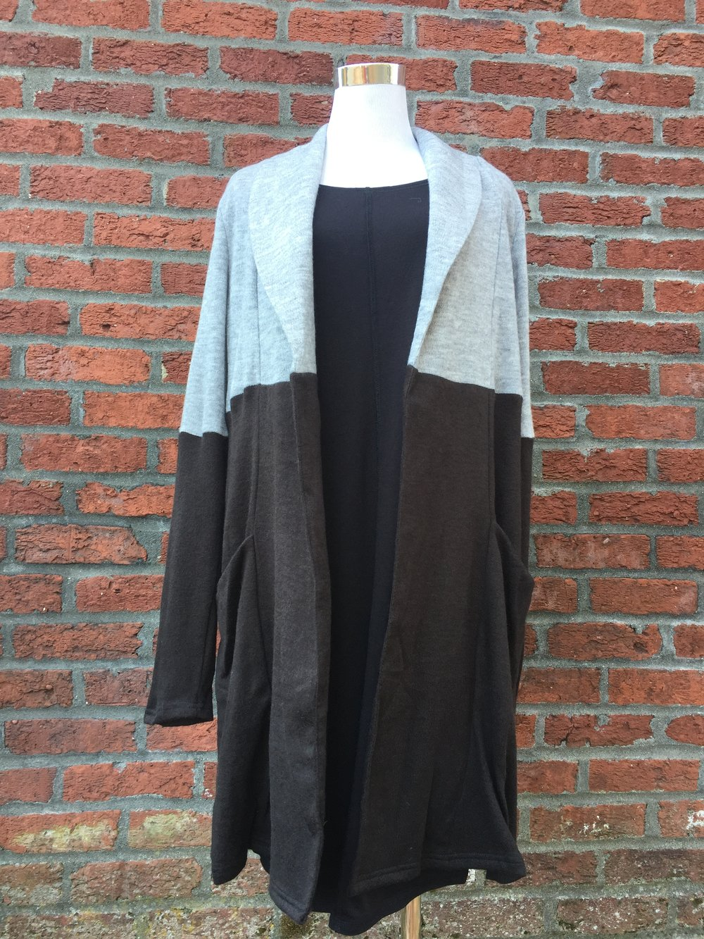 Two-tone Sweater Coat ($42)