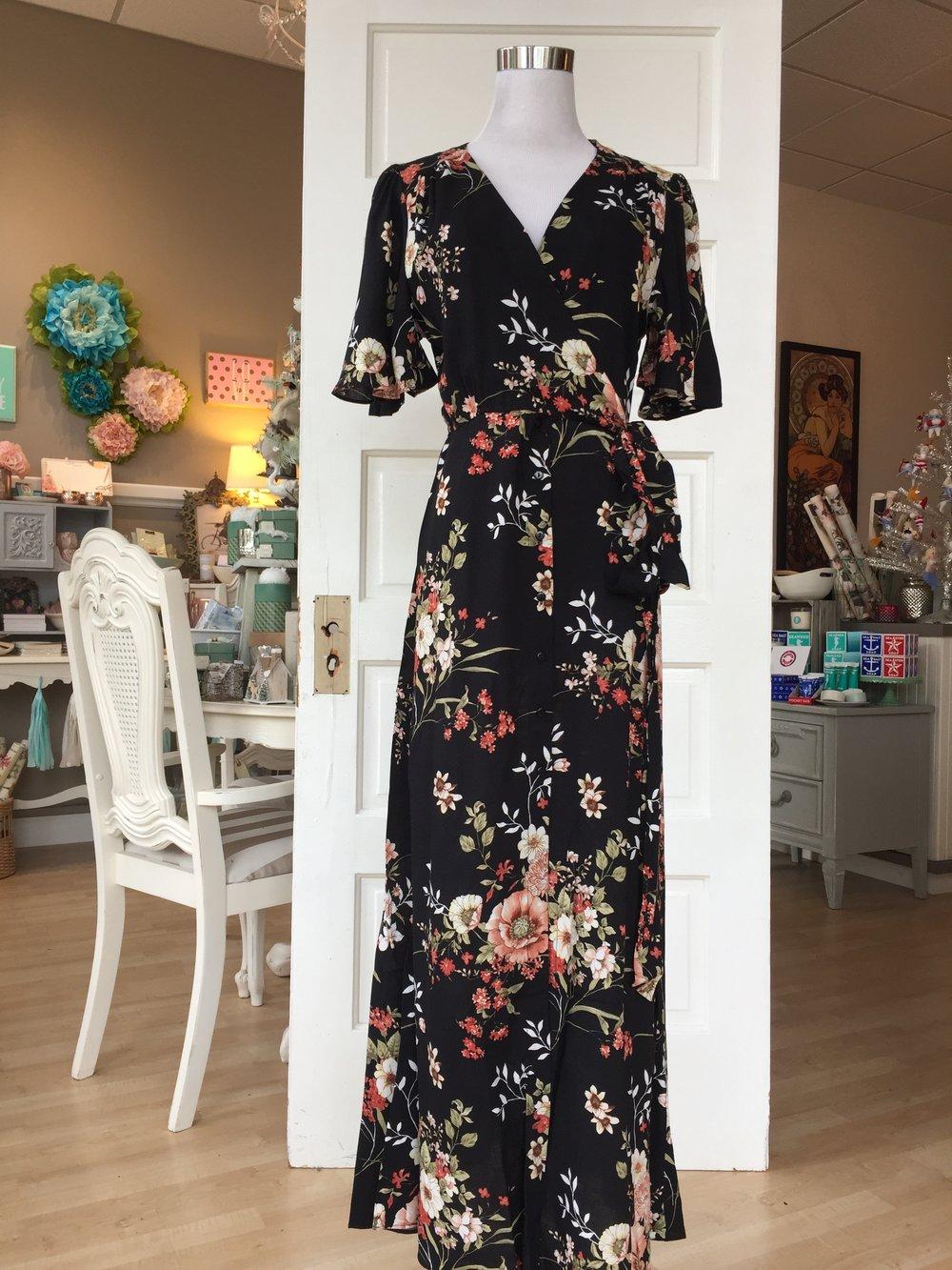 Floral wrap maxi dress ($48)