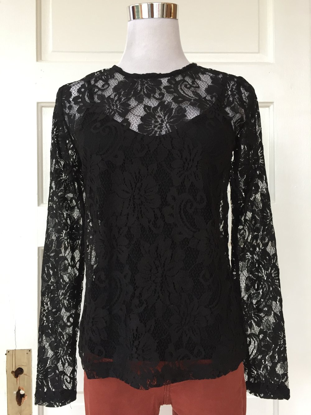 Black lace top ($38)